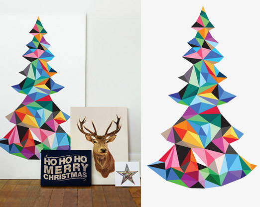 painted christmas tree – A House in the Hills