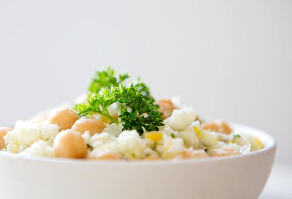"""Cauliflower """"Couscous"""" With Basil-Lemon Sauce Recipes — Dishmaps"""
