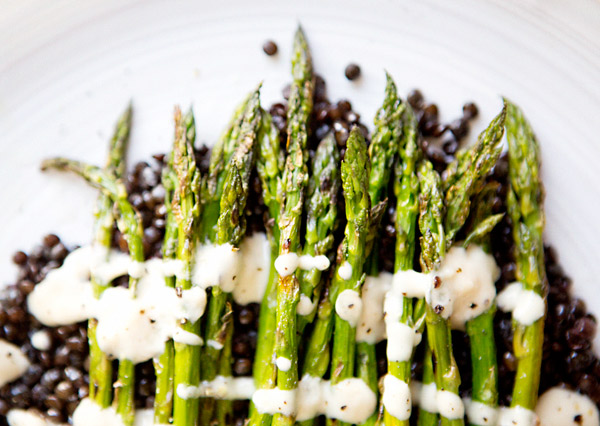 Asparagus With Maple Tahini Dressing Recipes — Dishmaps