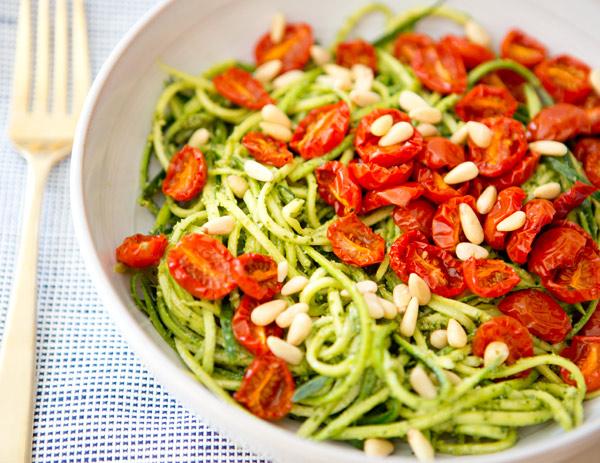 Pasta and courgette recipe