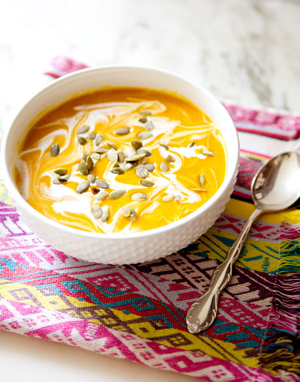 curried pumpkin and butternut squash soup – A House in the Hills