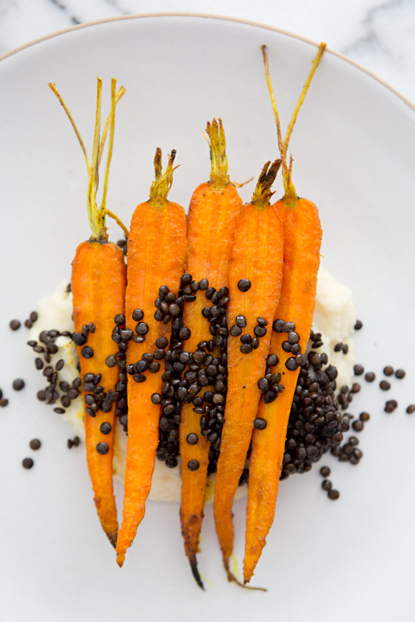 parsnip celery root mash with beluga lentils and roasted ...