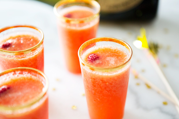 Raspberry-Fennel Bellini Recipe — Dishmaps