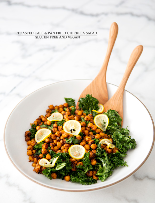 toasted kale and pan fried chickpea salad – A House in the Hills