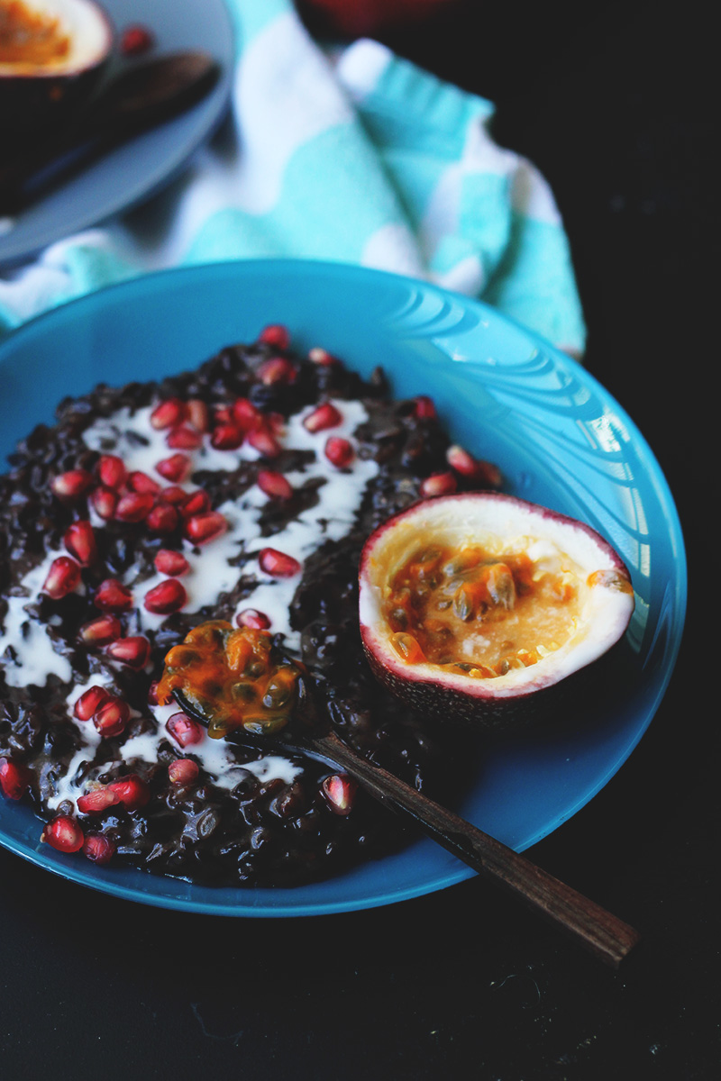 Black-Sticky-Rice-with-Pomegranate-and-Passionfruit