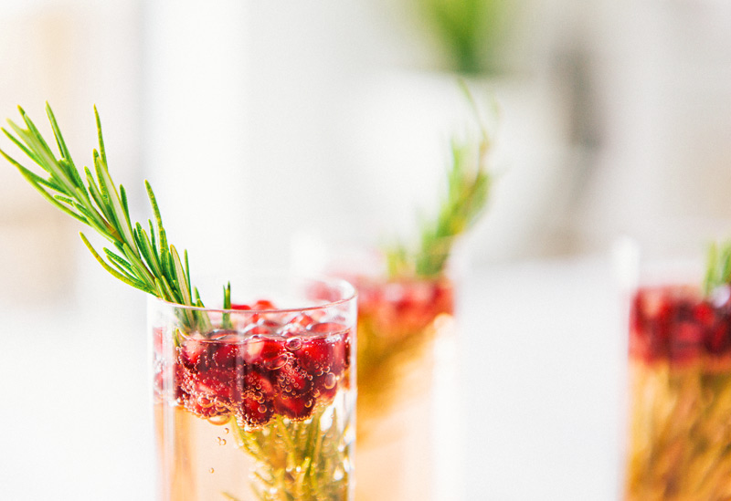 Pomegranate Rosemary Spritzer