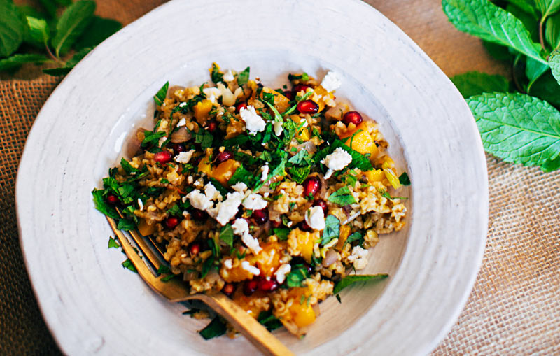 Warm Freekeh Salad