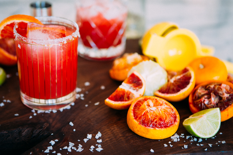 Ginger Blood Orange Margaritas