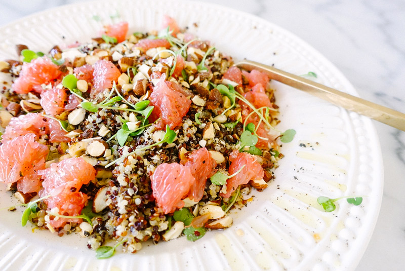Quinoa + Grapefruit Salad